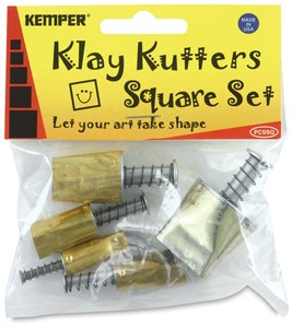 Kemper Clay Pattern Cutters -5 Pc Square Set by Kemper