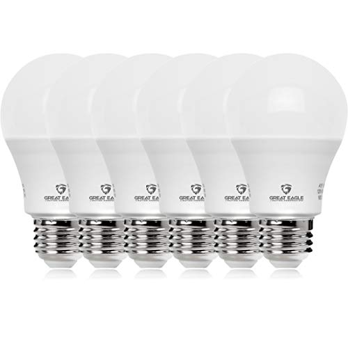 Great Eagle 100W Equivalent LED Light Bulb 1550 Lumens A19 2700K Warm White Non-Dimmable 15-Watt UL Listed (6-Pack) (Best Warm Led Bulb)