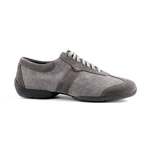 PortDance Herren Sneakers/Dance Sneakers PD Pietro Street - Denim Grau - Sneaker Sohle