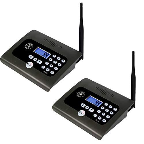 Retekess BS-820 Wireless Intercom System Long Range 10-Channel Full-Duplex Baby Elderly Monitor Security Intercoms for Home Care Office(Black 2 Pack)