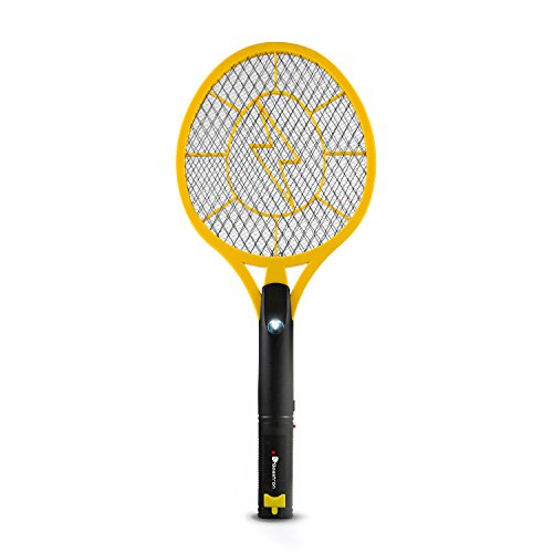 Beastron (Large Size Mosquito Racquet Killer Racket with USB Charging (Upgraded) Rechargeable Bug Zapper, Electric Fly Swatter 3000, 1 Pack, Yellow
