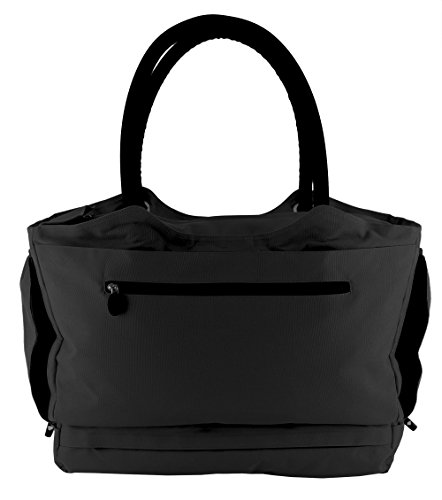 CoolBag Gen 2 Locking Anti-Theft Travel Tote With Insulated Cooler Compartment (Bermuda Black) (Play Card Tote)