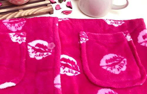 De Top Lujo Cálido Invierno Acogedor Manga Franela Pijamas Pantalones Vintage Mujer Y Conjunto Larga Rojo Para 7CttwqxF
