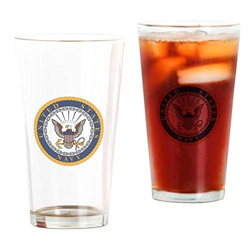 CafePress - US Navy Emblem - Pint Glass, 16 oz. Drinking - Us Navy Glasses