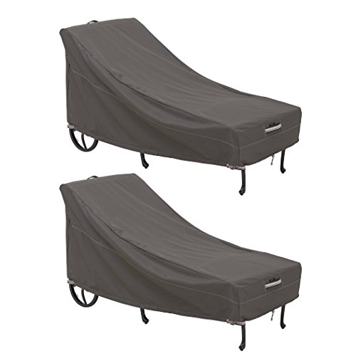 Classic Accessories 55-712-041502-2PK Ravenna Cover, Large Chaise Lounge 2-Pack