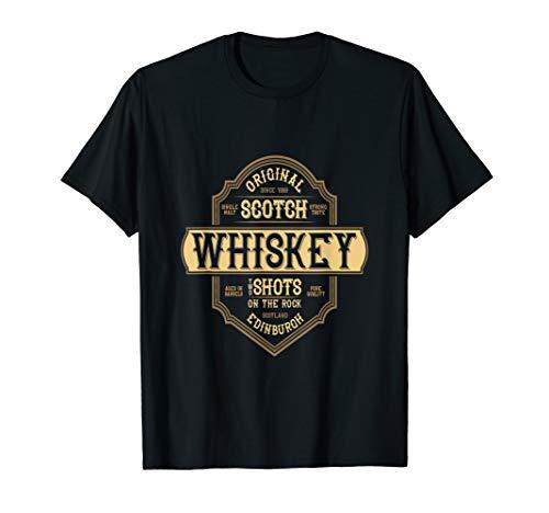 Single Malt Scotch Whiskey Two Shots On The Rocks Tshirt ()