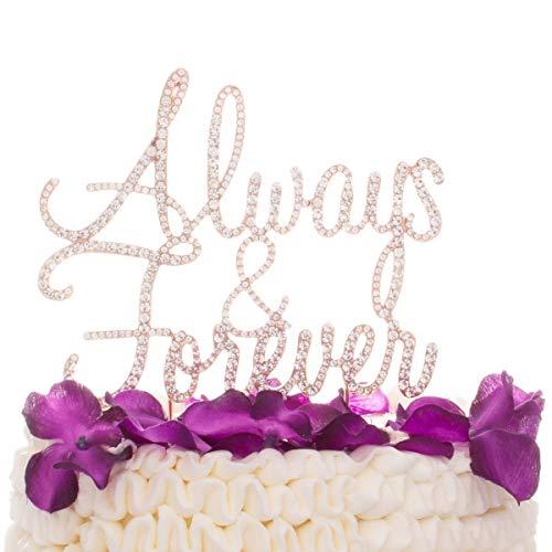 Ella Celebration Always and Forever Wedding Cake Topper, Romantic Decoration (Always & Forever) (Rose Gold)