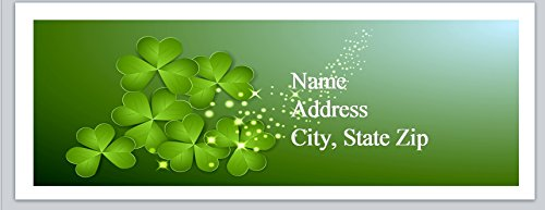 120 Personalized Address Labels Clover Shamrock (P 509)