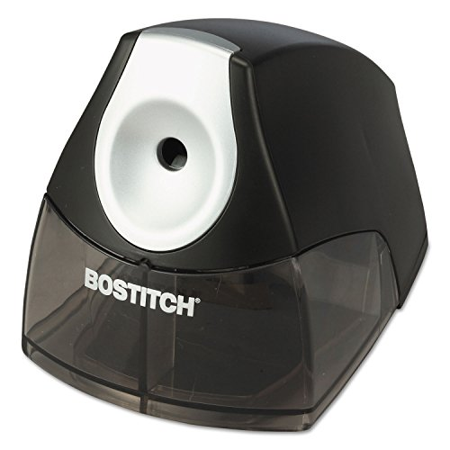 (Stanley Bostitch Products - Stanley Bostitch - Compact Desktop Electric Pencil Sharpener, Black - Sold As 1 Each - The perfect choice when space is at a premium. - HHCTM cutter technology produces a precision point every time and outlasts single blade models by up to five times. - Features a high-capacity, easy-to-clean shavings tray with an integrated safety switch that prevents operation when the tray is removed. - Elegant design accentuates any desktop. -)