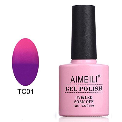 AIMEILI Soak Off UV LED Temperature Color Changing Chameleon Gel Nail Polish - Arabian Nights (TC01) -