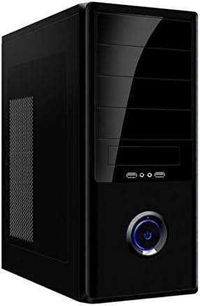 Kloner KB404 Midi-Tower 500W Negro Carcasa de Ordenador - Caja de Ordenador (Midi-Tower, PC, Metal, ATX, Negro, 0,45 mm): Amazon.es: Informática