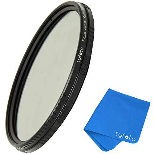 58mm 2-400 Variable ND Filter For Camera Lenses - NDX Professional Photography Filter with Lens Cloth - Schott b270 glass,16-layer Nanoform, Ultra-slim, Weather-Sealed by Tyfoto by Tyfoto