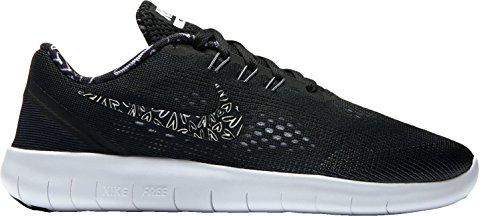 Nike Kids Free RN Print Big Kid Black/White/Lava Glow/White, 6.5 US Big - Nike Shoes Run Roshe Women