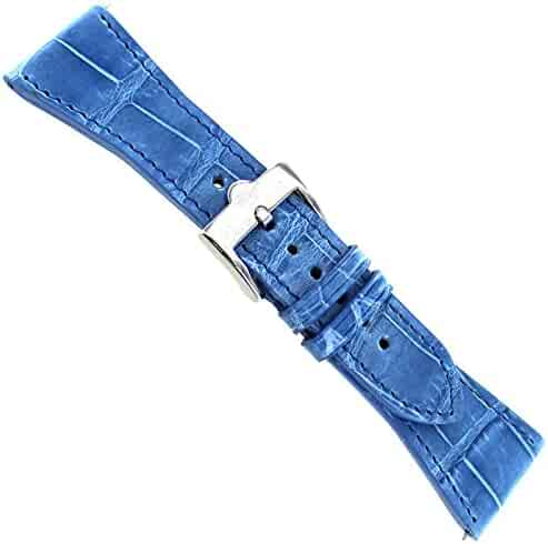 112e1d61dbb 26mm Glam Rock Hand Made Stitched Genuine Alligator Blue Watch Band