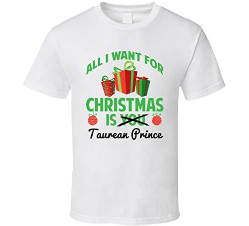 yeoldeshirtshop All I Want for Christmas is Taurean Prince Atlanta Basketball Funny Fan T Shirt S White