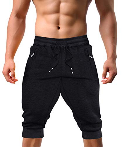 EKLENTSON Gym Shorts for Men with Pockets Shorts Joggers for Men Yoga Pant Jogger Shorts for Men (Joggers Shorts)