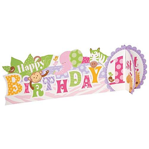 Pink Safari First Birthday Centerpiece (Safari First Birthday)