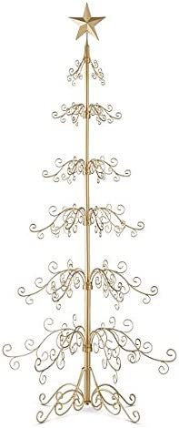 Tree Branches Gold Tone Metal 14 Ornaments Stand 17 Inches