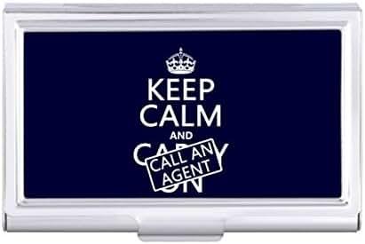 Keep Calm and Call An Agent Card Holder