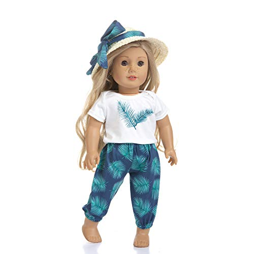Ecore Fun Lot 3 Items 18 Inch Doll Beach Clothes Summer Casual Wear Outfit for American 18