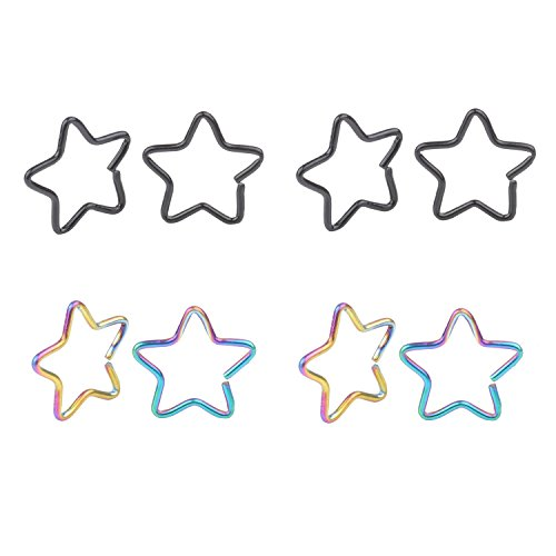 20G Surgical Stainless Tiny Niobium Star Captive Ring Daith Ear Cartilage Earring Rook Tragus Helix Piercing Nose Ring Nose Hoop