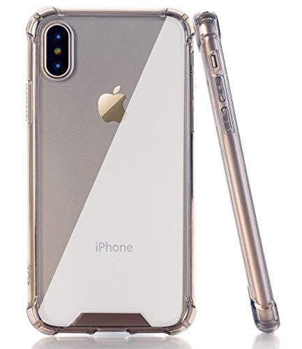 BAISRKE iPhone X Case, Clear Black Shock-Absorption TPU Soft Edge Bumper Anti-Scratch Rigid Slim Protective Cases Hard Plastic Back Cover for iPhone X iPhone Xs [5.8 inch]