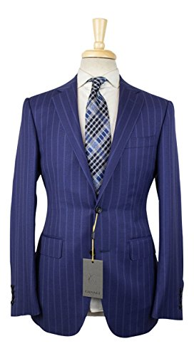 Canali 1934 Blue Striped Wool 2 Button Suit Size 48/38 for sale  Delivered anywhere in USA