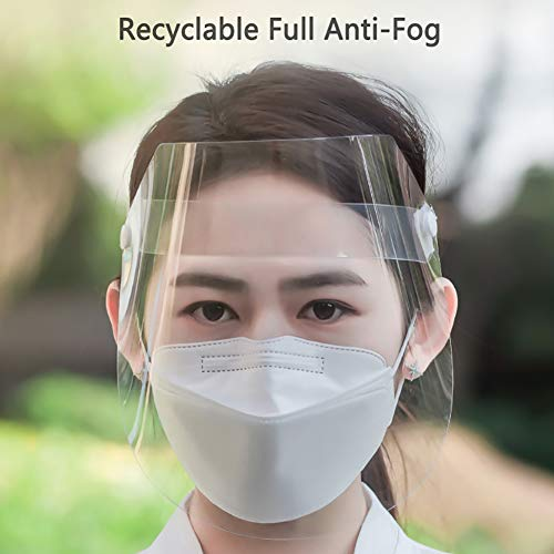 WAKA WAKA Splash-proof Dust-proof Mask, Full Face Shield Clear Head-mounted Protective Mask Rotatable Face Mask Full Face Masks Safety Face Shield