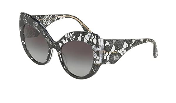 2460e465847 Amazon.com  Dolce   Gabbana Women s Lace Ortensia Extreme Cat Sunglasses