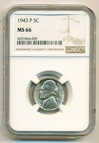 1943 P Jefferson Silver Nickel MS66 NGC