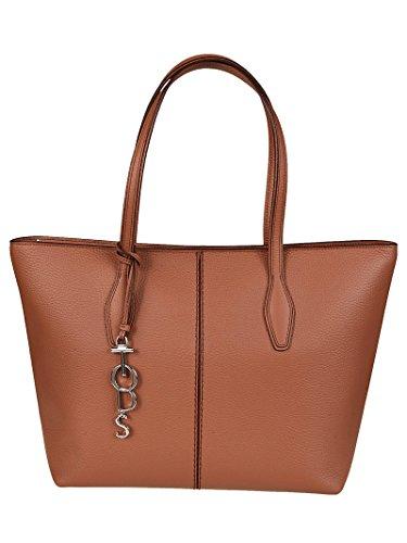 Tods Shopper Joy con Charm Logo Marrone XBWANQAA300RIA