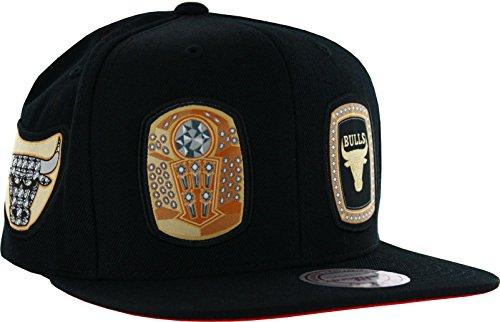 f9749ee5552 Mitchell   Ness Men s Chicago Bulls Rings Snapback Hat Black ...