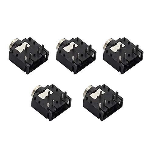 RuiLing 5pcs 3.5mm Stereo Audio Socket 5 Pin PCB Mount Female Earphone Jack Socket Connector PJ-307