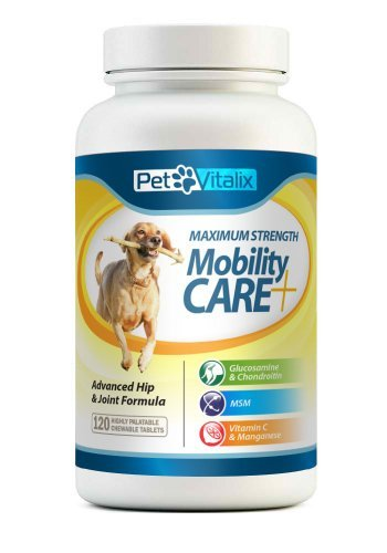 Glucosamine for Dogs with Chondroitin + MSM + Perna + Manganese by Petvitalix, Best Arthritis Pain Relief Joint Health Supplement for Pets Recommended by Veterinarians; Professional Strength Dog Supplement for Joints and Hip Dysplasia; Medicine Treats; Pa