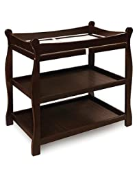 Badger Basket Sleigh Changing Table, Espresso BOBEBE Online Baby Store From New York to Miami and Los Angeles