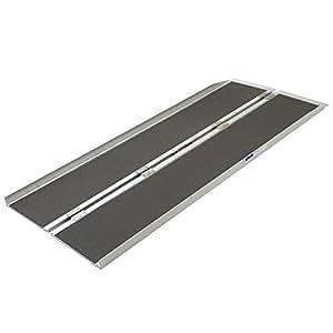amazon com silver spring aluminum folding wheelchair ramp plus 6 x