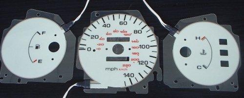 Apc Power Inverters (92 93 94 95 Honda Civic DX White Face Glow Gauges Dash Kit - Manual Transmission)