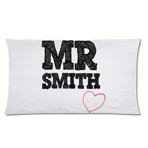 Señor Smith funda de almohada - Hipster Señor y señora Smith ...