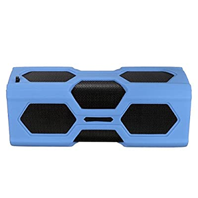 ELEGIANT Portable Outdoor Sport Boombox NFC Wireless Bluetooth Speaker Dustproof Shockproof Bass Subwoofer Sound Speaker 2 in 1 function with 3600mAh Power Bank/ Mic / NFC Function and Metal Hook Loop Idea for Calls and Rechargeable Battery for iPhone 6/