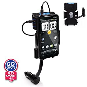 GOgroove Flexsmart SP Advanced Car Mount System with Signal Intensifying FM Transmitter for HTC, LG , T-Mobile, Motorola, Samsung and More Google Android Phone