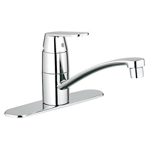 Faucet America Lever Kitchen Single (Eurosmart Cosmopolitan Centerset Single-Handle Kitchen Faucet With Swivel Spout)