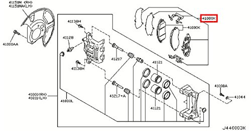 Brake Pad Pin Clip - Infiniti 41080-AR026, Disc Brake Pad Pin Clip