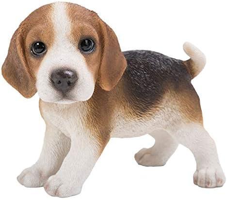 "Adorable Teacup Beagle Dog Statue 5.5/""H Pocket Beagle Puppy Dog Breed Figurine"
