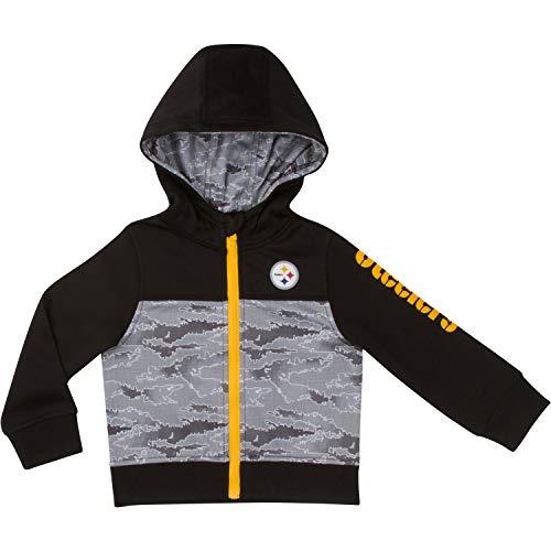 Gerber Childrenswear NFL Pittsburgh Steelers Boys 2018Hooded Jacket, Black, 2T