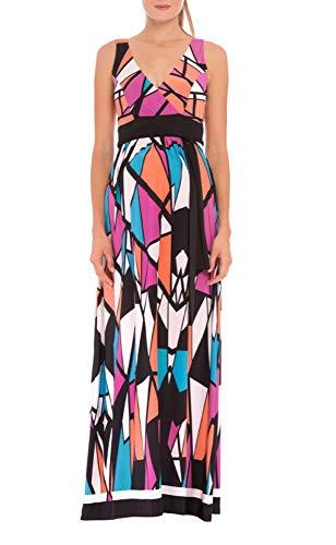 Olian Shirred Empire Waist Maxi Dress - Olian Maternity Wear