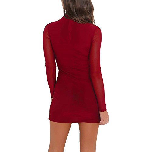 Tulucky-Women-Sexy-Lace-Sleeve-Slimming-Bodycon-Nightclub-Bandage-Party-Dress