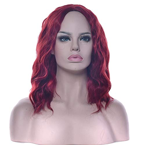 Short Wavy Black Blonde Cosplay Wigs Synthetic Hair Hair Pieces Party Hair Red Gray Wig for -