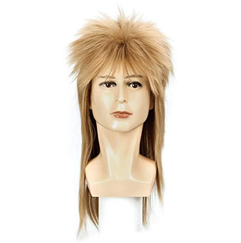 Long Straight 80s Fashion Smart Rocker Style Wig Wig for Men Hippie Gangster Beach Bum,Size One Size Fits ()