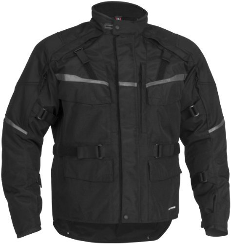 Firstgear Jaunt T2 Men's Textile Motorcycle Jacket (Black, Small)