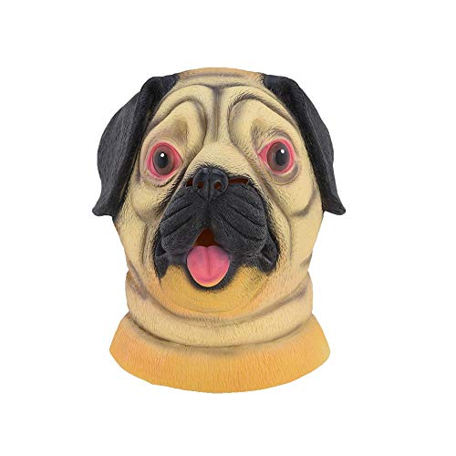 Morrenz - Halloween Pug Dog Latex Mask Novelty Costume Party Fancy Dress Animal Masks